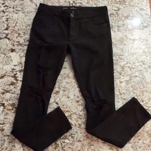Women's black denim STS Blue skinny jeans, size 29